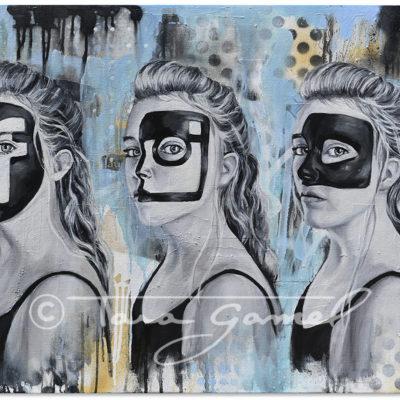 Social   Social Masquerade 36″x24″