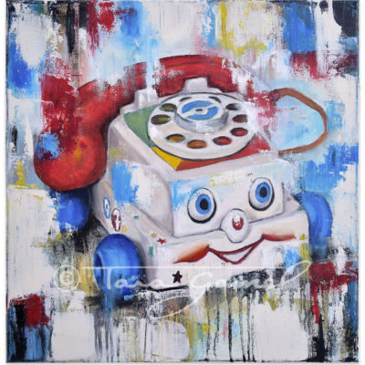 Eye Phone Recall Canvas & Paper Prints